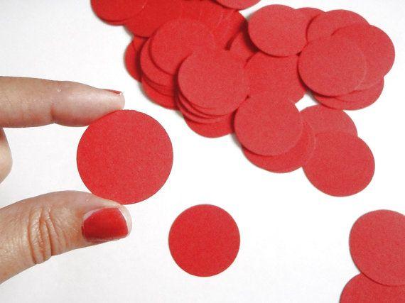 68 coriandoli rotondi cerchi rossi laurea nozze matrimonio battesimo laurea decorazione tavola scrapbooking diy ghirlanda lasoffittadiste