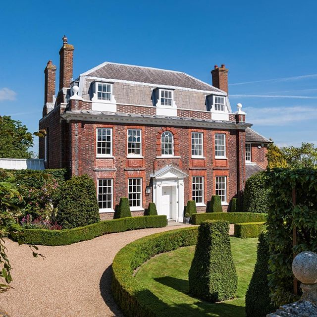 Hailsham Grange, a Grade II* listed former vicarage set in superb landscaped gardens in a historic market town #EastSussex #walledgardens #queenannestyle #periodhome #villagehouse