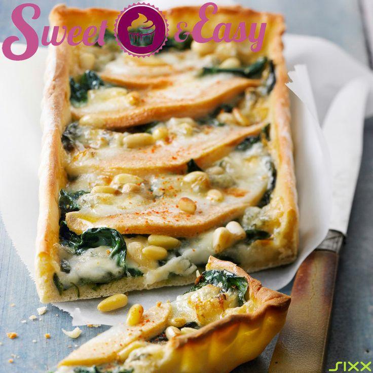 #Pizza mal anders: Mit Spinat und #Birne