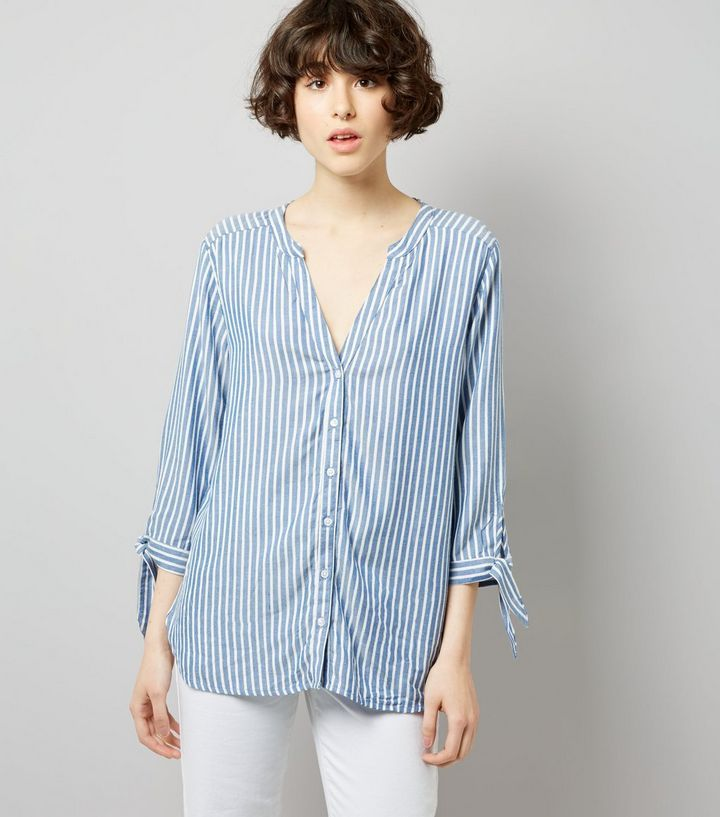 L2017 http://www.newlook.com/row/womens/clothing/tops/jdy-blue-stripe-tie-sleeve-shirt-/p/526763049?comp=Browse