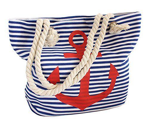 Sonia Originelli Strandtasche Tasche Beutel Anker maritim blau weiss gestreift Streifen rot Kordel Seil Trend 2015 BOOM IT http://www.amazon.de/dp/B00YHOAYTW/ref=cm_sw_r_pi_dp_pVtVvb0V7AD4M