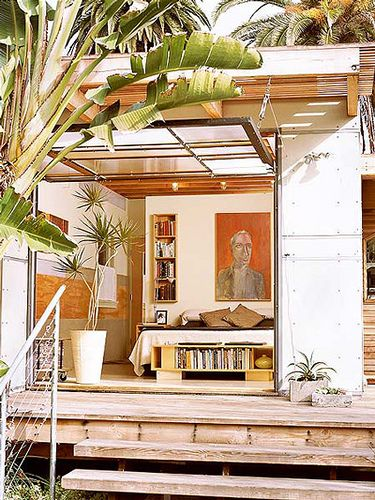 This indoor outdoor room makes me happy.