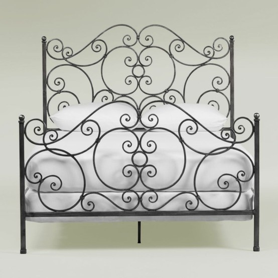 Ethan allen 39 s iron scroll bed 1 199 bed pinterest beds ethan allen and irons - Ethan allen metal bed ...