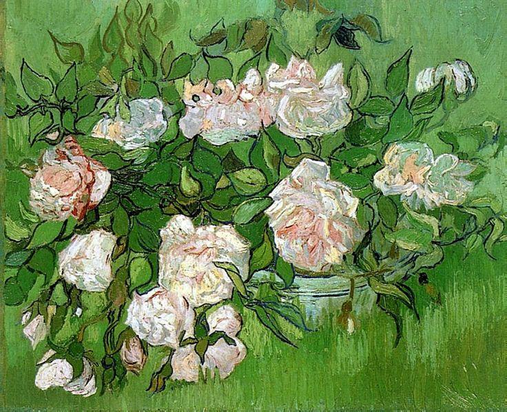 Still Life - Pink Roses, 1890 ~ Vincent van Gogh