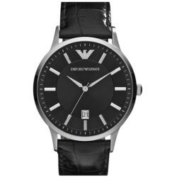 Cheap Emporio Armani Slim Leather Strap Watch price - A glossy croc-embossed strap complements a numberless dial on a sophisticated watch. Color (s) : black / black. Brand: Emporio Armani. Style Name: Emporio Armani Slim Leather Strap Watch. Style Number: 260865. Available In...