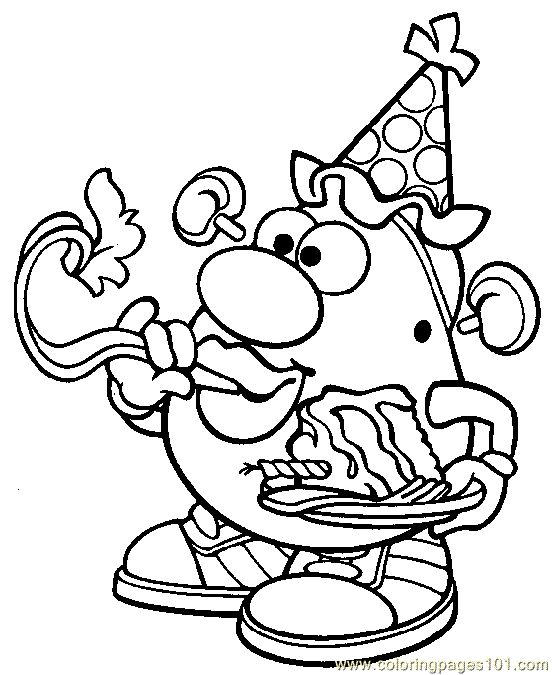 mrs potato head coloring pages - 85 best images about mr potato head birthday ideas on