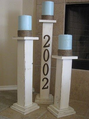 would love these outside on front porch or back patio, with our last name on them maybe...or just plain.
