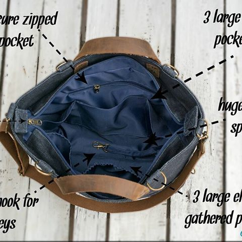 So many pockets. Waterproof inner, water-repellent outer. #bag #diaperbag #convertiblebag #bunny #sunglasses #denimbag #waxeddenimbag #waxedcanvas #waxed #baby #mommy #mom #etsy #dawanda #backpack #shoulderbag #handbag #playground #findonetsy #dawanda #buboxa #buboxashop #pockets