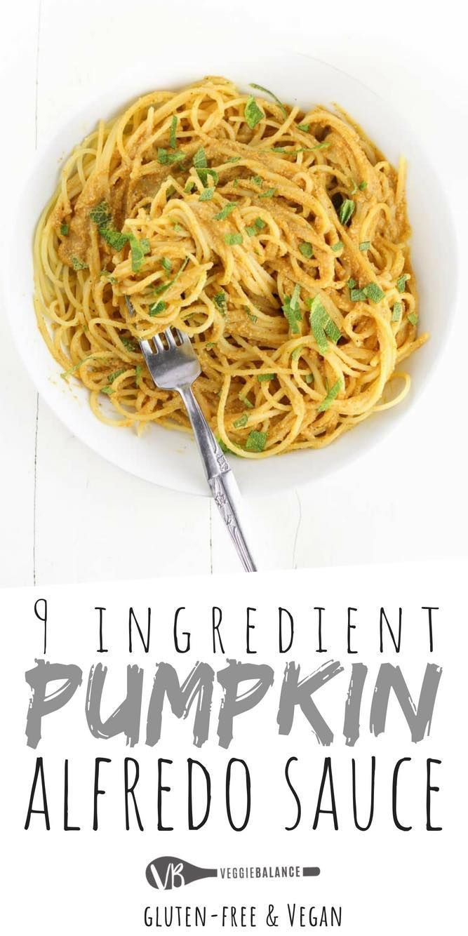 Pumpkin Alfredo Sauce Recipe Made With 9 Ingredients Including