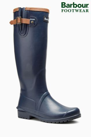 Buy Barbour® Navy/Tan Leather Trim Welly from the Next UK online shop