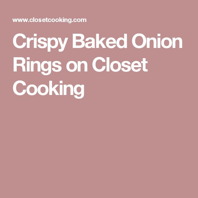 how to make easy onion rings in the oven