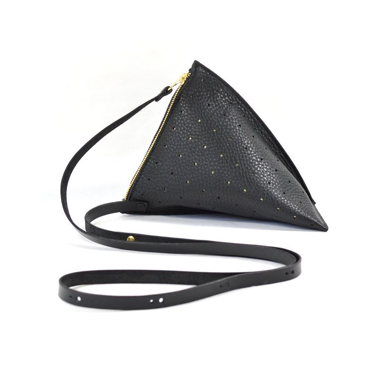 Celeste Black Perforated Gold