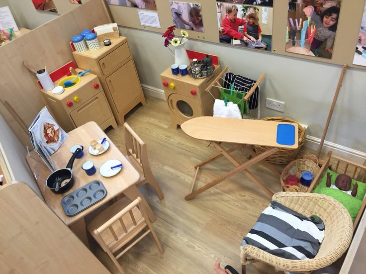 Home corner. A non negotiable area to be set up all year round to allow children to practice and play through everyday scenarios and life skills.