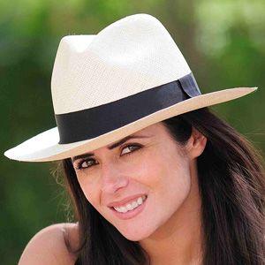 Panama Hat Fedora Natural - Gamboa Classic for Women