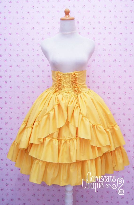 Hey, I found this really awesome Etsy listing at https://www.etsy.com/listing/107721581/high-waist-skirt-gothic-lolita-ruffled