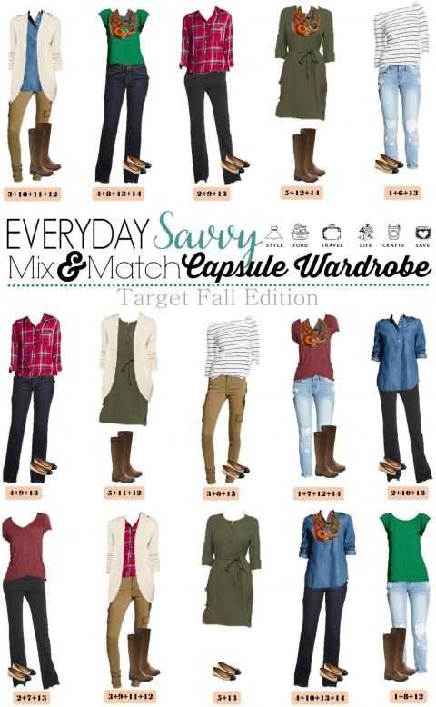 Fun new Target Fall Capsule Wardrobe. These pieces mix and match for 15 great outfits that will have you looking great this fall.
