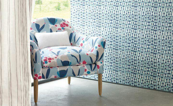 Villa nova makela collection fabrics and wallpapers available from noctura interiors Bangor