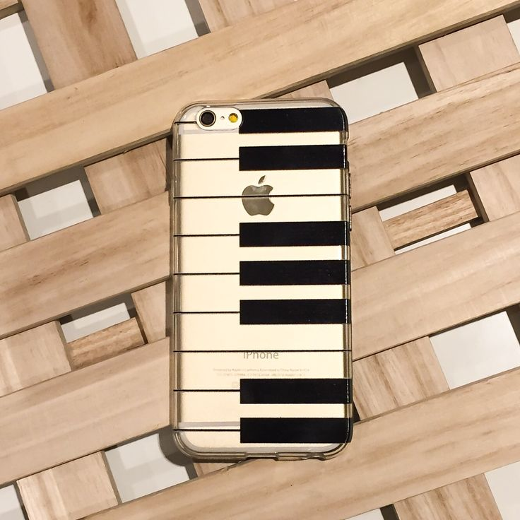 Clear Plastic Case Cover for iPhone 5 5S - (Henna) The Piano Keyboard