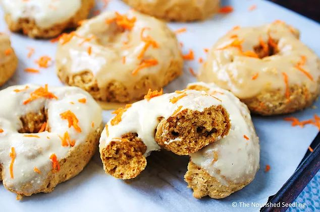 Baked Cinnamon Spice Carrot Doughnuts | The Nourished Seedling