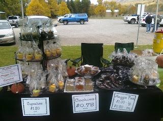 bake sale set up idea
