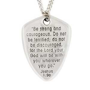 Shield of Faith Pewter Christian Necklace