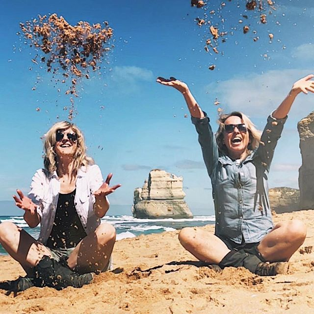 """::: GIBSON STEPS ::: """"A real highlight for me of Day 4 of the Twelve Apostles Lodge Walk was climbing down the Gibson Steps. ⠀  It's a really magical spot - towering cliffs cocoon the soft sandy beaches and who can forget the majestic limestone structures in the background. Whilst they aren't 'Apostles' they are still absolutely breathtaking.""""  @micro_adventurist  What a feel good photo! Happy hump day, hikers. May the sand be between your fingers again before you know it…"""
