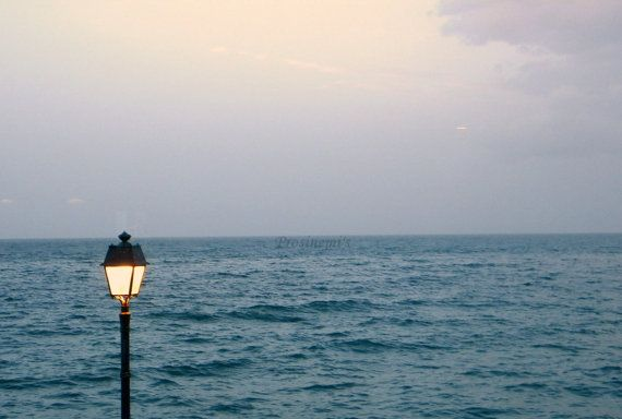 Blue sunset photo near the sea  Greece  photo travel by prosinemi, €15.00