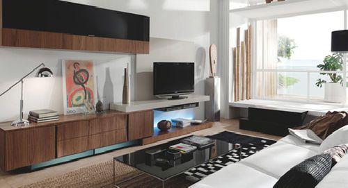 Moderne Wohnwand aus Holz M5 PIFERRER