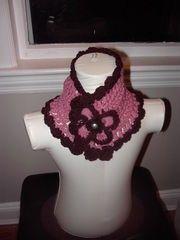 Ladiesgirls crochet neck warmer with a flower by inspirebynancy, $25.00