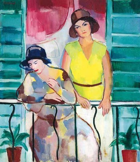 Emőd, Aurél (1897-1958) On the balcony