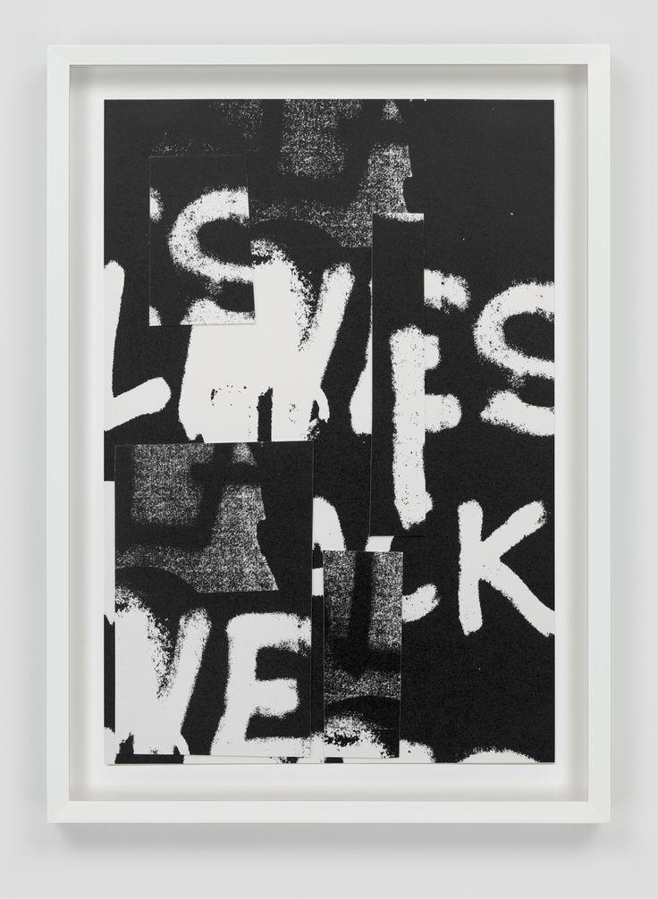 "Adam Pendleton, ""Untitled,"" 2016, collage on paper"