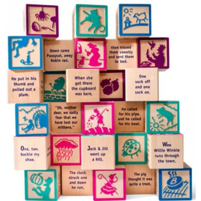 What a lovely keepsake these gorgeous blocks would be for my grandchildren #Entropywishlist #pintowin Uncle Goose - Blocks Nursery Rhyme