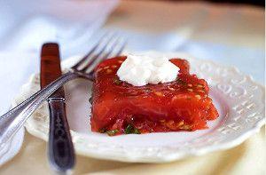 Ladies' Luncheon Tomato Aspic | RecipeLion.com