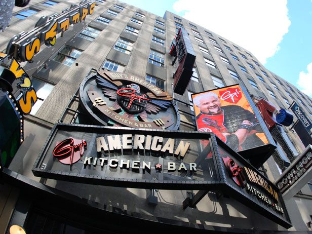 Guy's American Kitchen & Bar: Look Inside Guy Fieri's New York City Restaurant - FoodNetwork.com