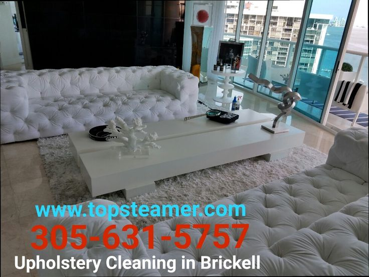 Professional upholstery cleaning in Brickell 305-631-5757 http://www.topsteamer.com/upholstery-cleaning-miami.html free estimates call us today.
