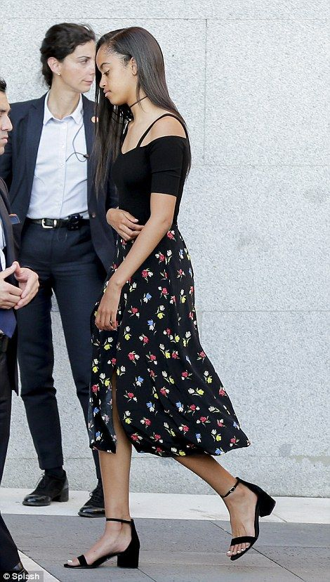 1july2016--- malia obama in madrid spain