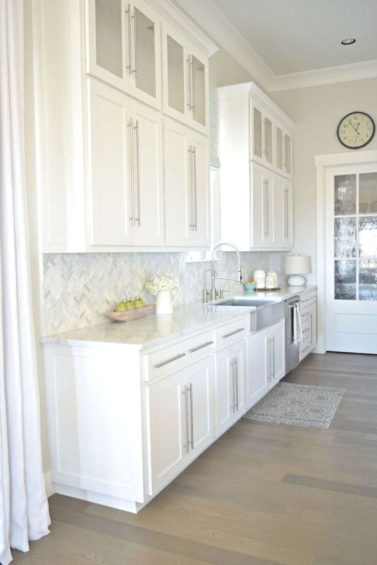 Kitchen Cabinet Base Trim Ideas And Pics Of Kitchen Cabinet Desk Ideas Kitchencabinets Kitc White Modern Kitchen Kitchen Cabinets Decor White Kitchen Design