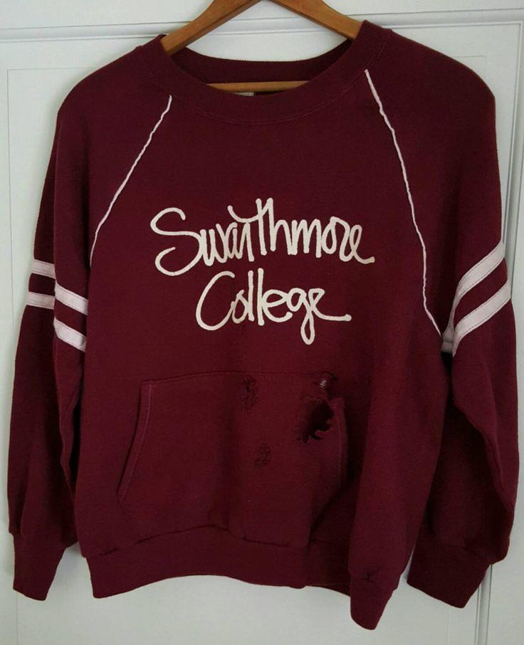 Swarthmore College Shirt Sweatshirt Size Medium Velva Sheen by ResouledGypsy on Etsy
