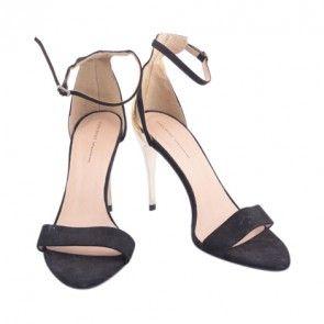 Zara Black and Gold Combined Heels