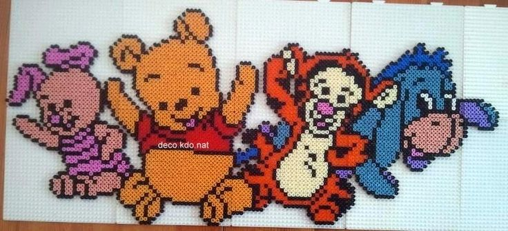 Baby Winnie and friends hama perler beads by Deco.Kdo.Nat