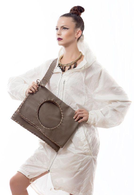 Elephant Leather Bag  Handmade Geometric by EleannaKatsira on Etsy, €240.00