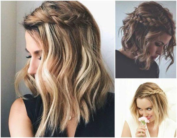 Trenzas para cabello corto y ondulado