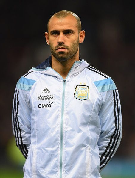 Javier Mascherano Photos Photos - Javier Mascherano of Argentina lines up for the International Friendly match between Argentina and Portugal at Old Trafford on November 18, 2014 in Manchester, England. - Argentina v Portugal