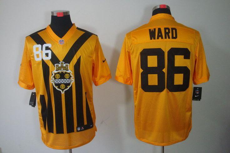 aa94879197a ... 86 Hines Ward 1933 Yellow Throwback Jersey NFL Pittsburgh Steelers  Elite Jerseys Pinterest Nike Limited Mens Pittsburgh Steelers 99 Brett  Keisel ...