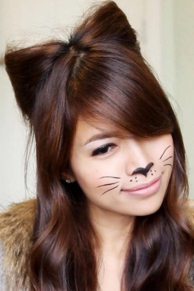 25 Easy Halloween Hairstyles To Make The Day Lovehairstyles Halloween Hair Kids Hairstyles Wacky Hair