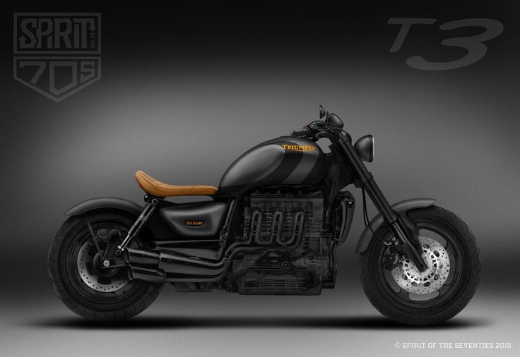 UK-based custom workshop Spirit of the Seventies released a photo of an upcoming Triumph Rocket III project. Dubbed the R3 Dark, this menacing, blacked-out Rocket III promises to be an inimitable take on the legendary Triumph cruiser.