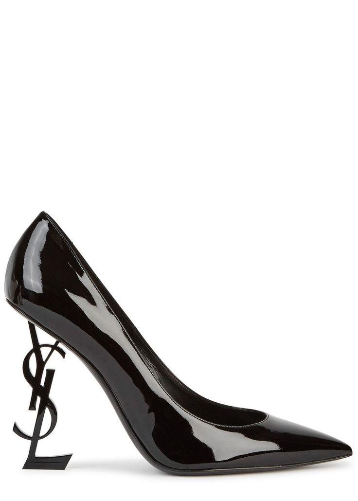 Black Patent Slip On Shoes