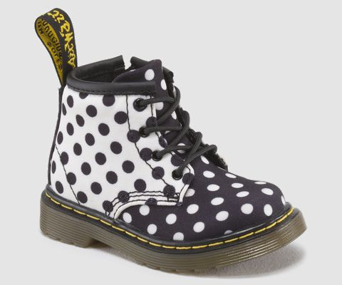 Dr Martens black & white dots