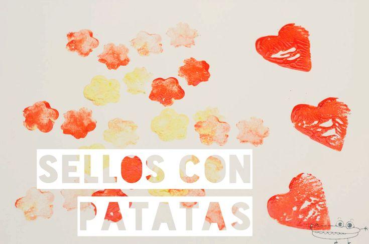 #Sellos de patatas  Cómo hacer #SellosCaseros para #EstamparCamisetas