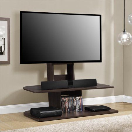 Altra Galaxy XL TV Stand with Mount for TVs up 65 inch, Multiple Colors, Brown